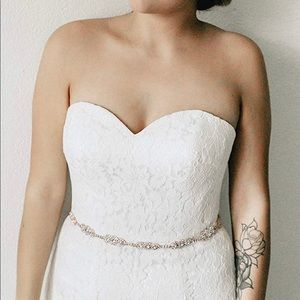 Accessories - Bridal rosegold sash belt